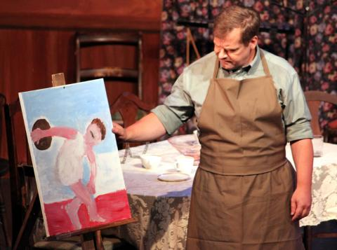 Painting Scene from You Can't Take It With You